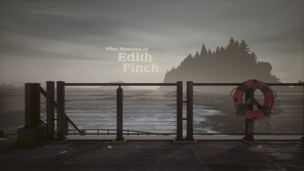 Início do jogo What Remains of Edith Finch